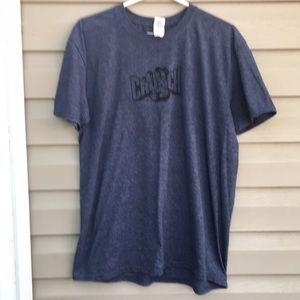 Crunch men's blue denim colored short sleeve tee
